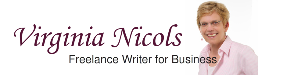 Virginia Nicols, Award-Winning Business Writer