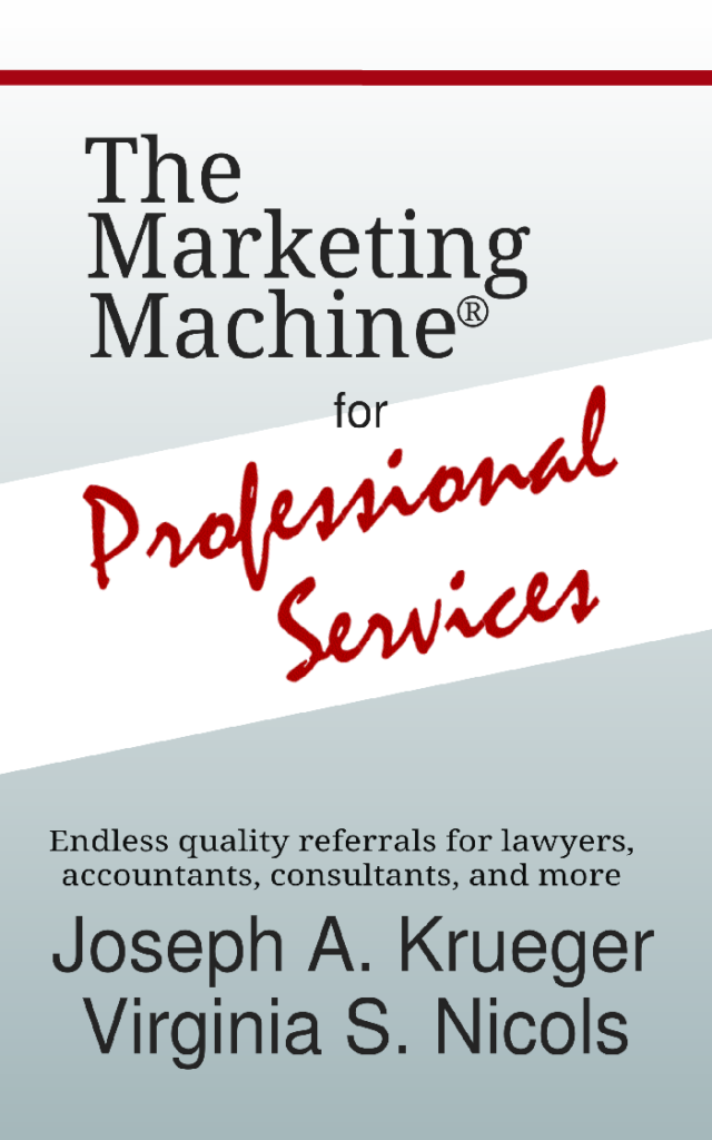 Book by Virginia S. Nicols The Marketing Machine for Professional Services
