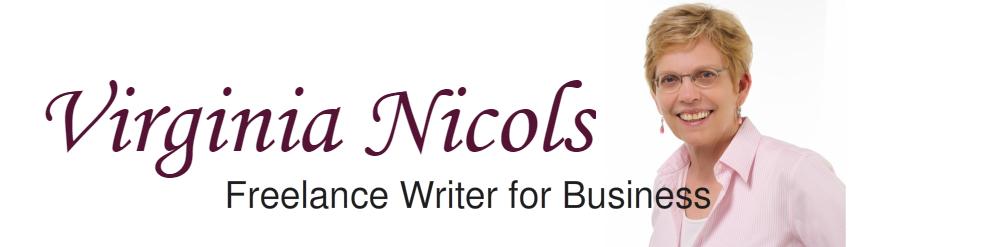 Virginia Nicols, Award-Winning Business Writer